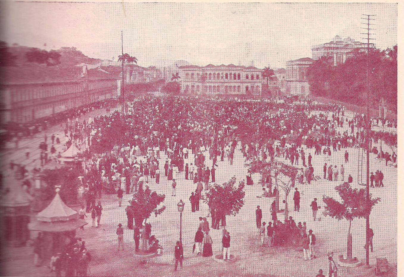 Praça da República, em 21 de maio de 1905. Foto: Arquivos Charles Julius Dunlop.