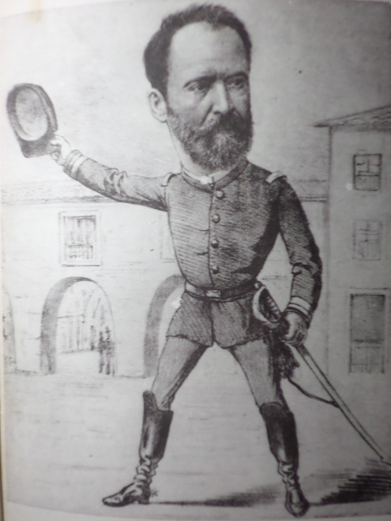 Caricatura da época, Major Solon
